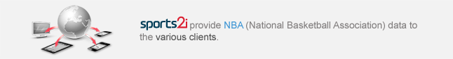 provide NBA and MLB data to the Web Portals and wireless service pages.