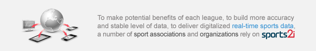 To make potential benefits of each league, to build more accuracy and stable level of data, to deliver digitalized real-time sports data, a number of sport associations and organizations rely on SPORTS2i.